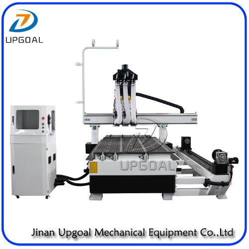 4 Axis Three Spindles Changing ATC CNC Engraving Cutting Machine 1300*2500mm