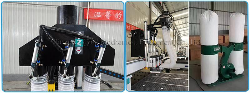 4 Axis Three Spindles Changing ATC CNC Engraving Cutting Machine 1300*2500mm 16