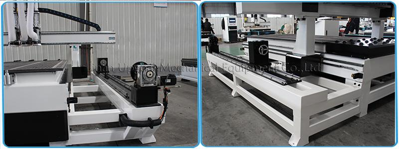 4 Axis Three Spindles Changing ATC CNC Engraving Cutting Machine 1300*2500mm 12