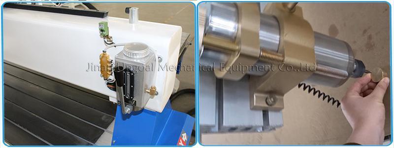 Semi-auto lubrication & automatic tools calibration