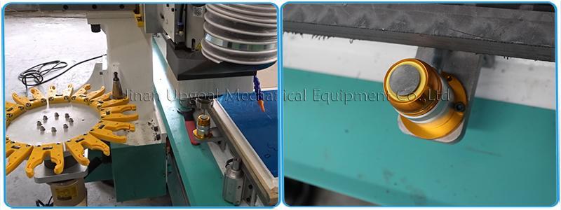 Wood Aluminum Furniture Automatic Disc Auto Tools Changer CNC Machine 850W 20