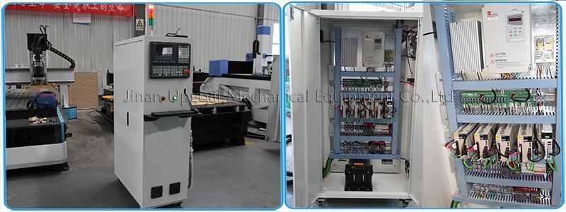 Wood Aluminum Furniture Automatic Disc Auto Tools Changer CNC Machine 850W 17