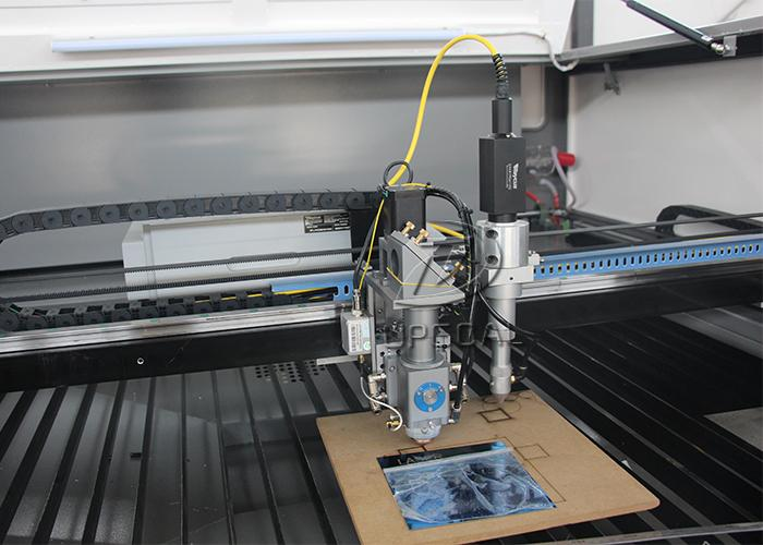 A1 head Reci 150w Co2 laser for metal non-metal cutting, A2 head Raycus 50W fiber laser for metal marking