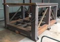 Strong welded square steel tube structure