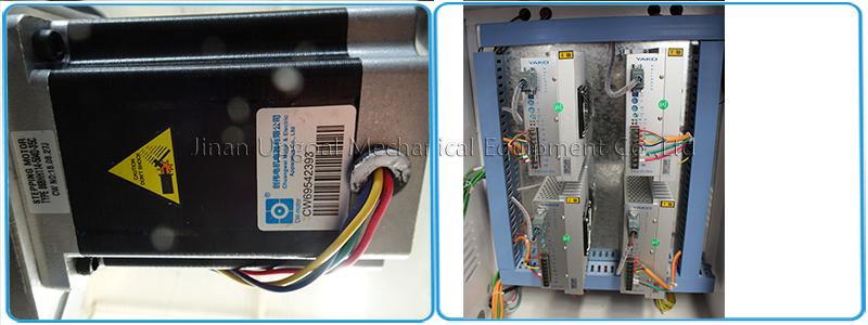 Powerful 86BYGH450C/1108YGH450A steppermotor and Yako 2811MA stepper river for XYZ-axis,