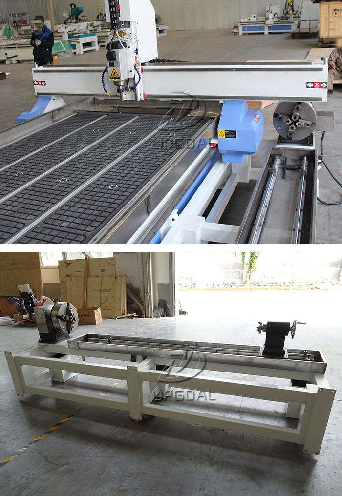 Extended gantry & independent removable rotary axis holder, with diameter 300mm, working length 2500mm, cylinder processing