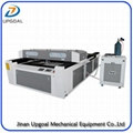 Equipped with metal&non-metal laser cutting head. Stainless steel, carbon steel, acrylic and wood can be cut.