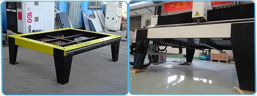 Dismountable machine legs, easy for delivery and save shipping cost
