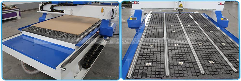 Vacuum adsorption table with 5.5kw air cooling vacuum pump,