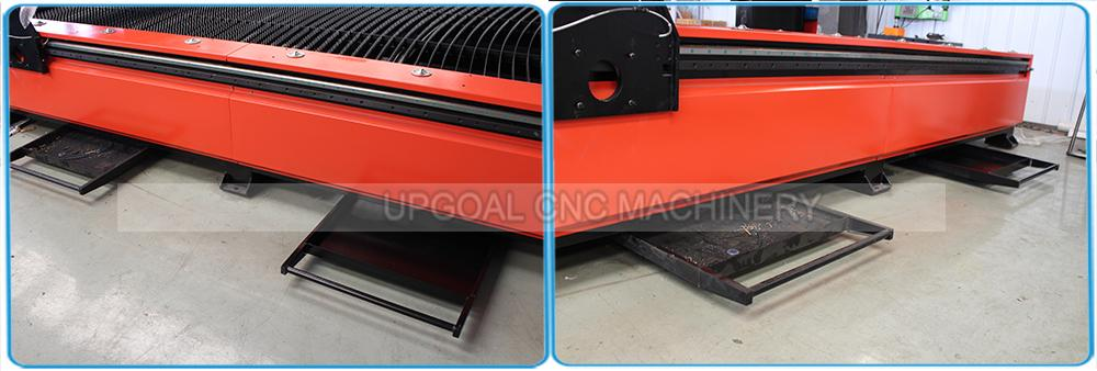Special fume dust extractor,and down draft cutting table and slag storage device, create a good working environment.
