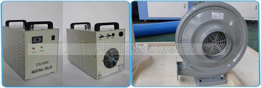 Industrial chiller CW-3000 cooling & air blower