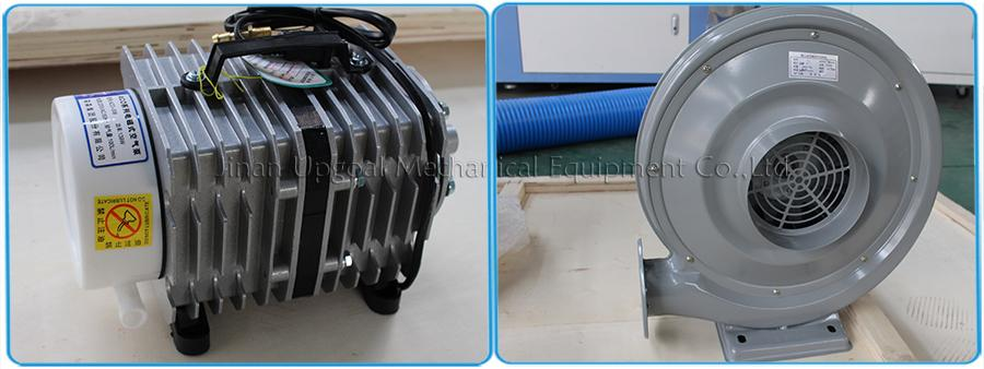 Air pump and air blower (550W 2 sets) for blow-off