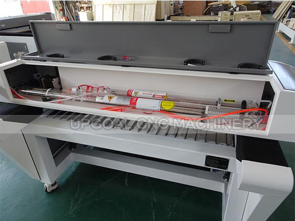 aser head A1: with Reci W6 130W Co2 laser tube, mainly used for thin 1.2mm thickness metal cutting & thick non-metal cutting, laser head A2: with EFR F2 80W Co2 laser tube, used for non-metal fine engraving cutting.
