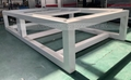 Welding machine bed with quenching treatment to remove away the stress