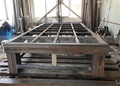 Strong welded square steel tube structure as a whole