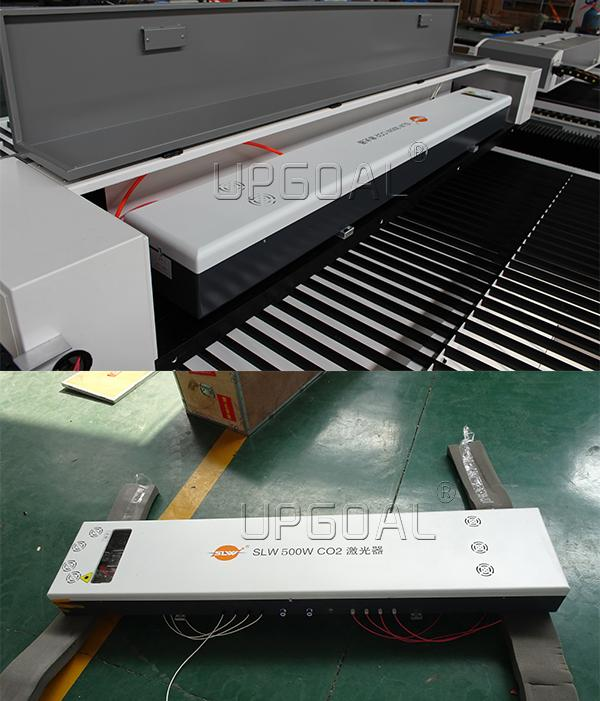 With famous SLW 500W folding Co2 laser tube,can for 3-3.5mm thickness stainless steel/carbon steel cutting, also can for 40mm wood cutting.