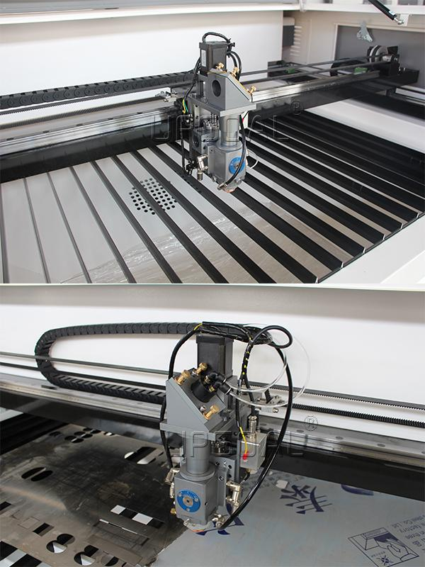 quipped with metal&non-metal laser cutting head