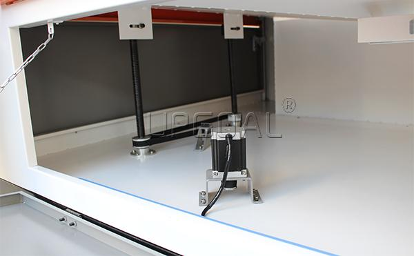 Auto Lifting Table for more thickness materials:Maximum Loading 50kgs with 300mm up-down distance