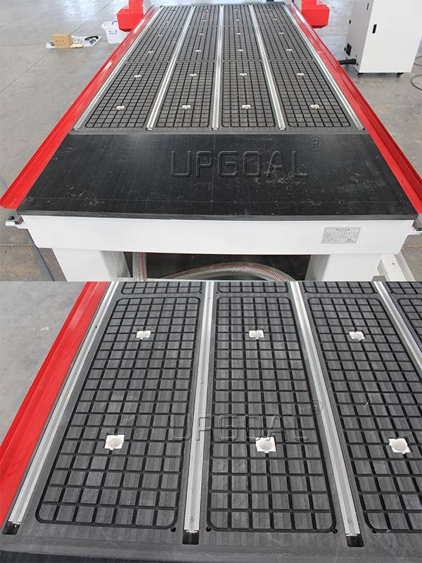 Vacuum adsorption table with aluminum alloy T slot working table