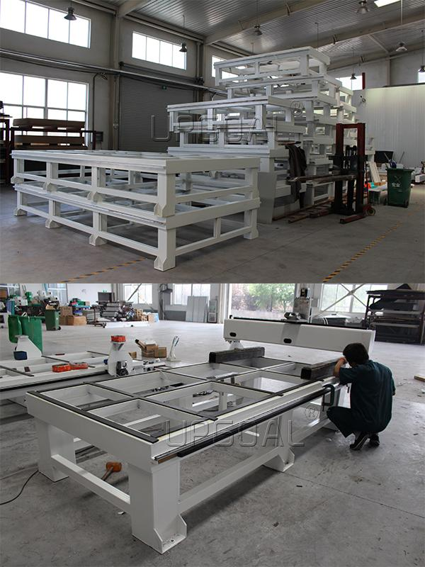 Strong welded square steel tube structure for whole machine