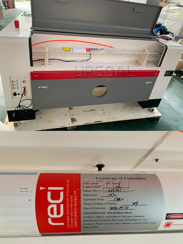 Reci W6 130W seal Co2 laser tube, strong cutting ability and long working life.