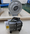 Air blower 550W and air pump 138W for blow-off