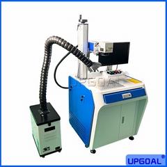 50W Fiber Laser Marking Machine with Smoke Purifier For Brass/Stainless Steel