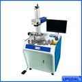 30W China Fiber Laser Marking Machine for Metal Logo Marking With Rotary Device