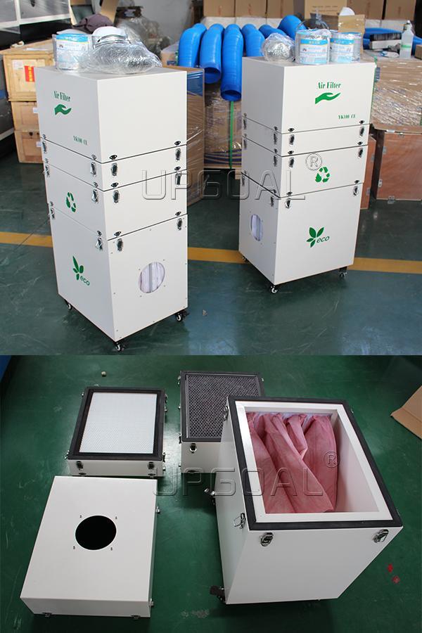 Optional air filter/smoke filter