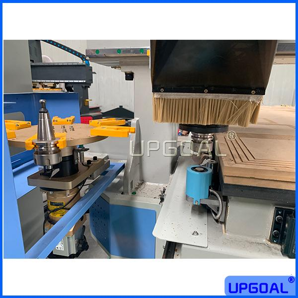 Powerful SYNTEC 1000W servo motor and driver for XYZ-axis, suitable all kinds of heavy solid wood engraving and cutting, high precision and fast speed.