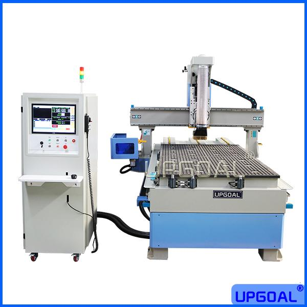 Disc type auto tool changer system, total 6 pcs(or more) bits in the tool magazine, only 8 seconds to change bits, can change the needed bits intelligently, saving bits changing time, improving efficiency.