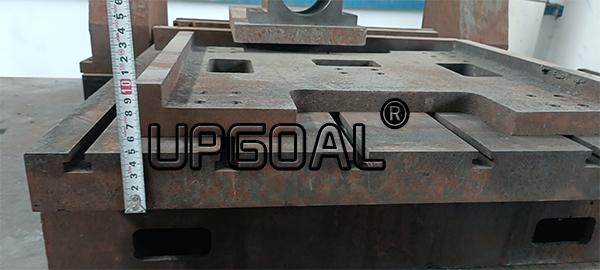 .Cast iron T slot Working table, table thhickness 50mm,  with platform moving type, durable without deformation.