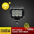 "Mini 4"" 18W Car Offroad LED Light Bar Working Light For Truck ATVS 2"