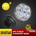 """Hot Sale Round 5.75"""" 36W Optical Len LED Driving Work Light Hi-low Beam In One  1"""