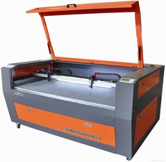 Double heads laser cutting machine for acrylic fabric pvc leather