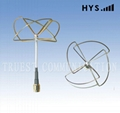 FPV / 2.4GHz Cloverleaf Whip Antenna / Skew Planar Antenna TCQZ-WZ-2.5-2400V-4