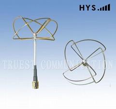 2.4G遙控飛機天線TCQZ-WZ-2.5-2400V-4(圓極化四瓣)直頭1