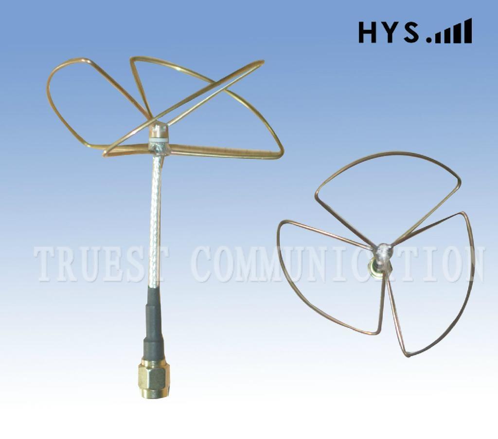 FPV / 2.4GHz Cloverleaf Whip Antenna / Skew Planar antenna TCQZ-WZ-2-2400V-3