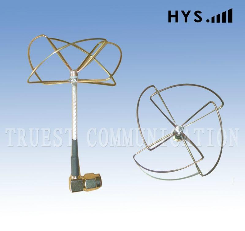 FPV / 2.4GHz Cloverleaf Whip Antenna / Skew Planar antenna TCQZ-WZ-2.5-2400V-W-4