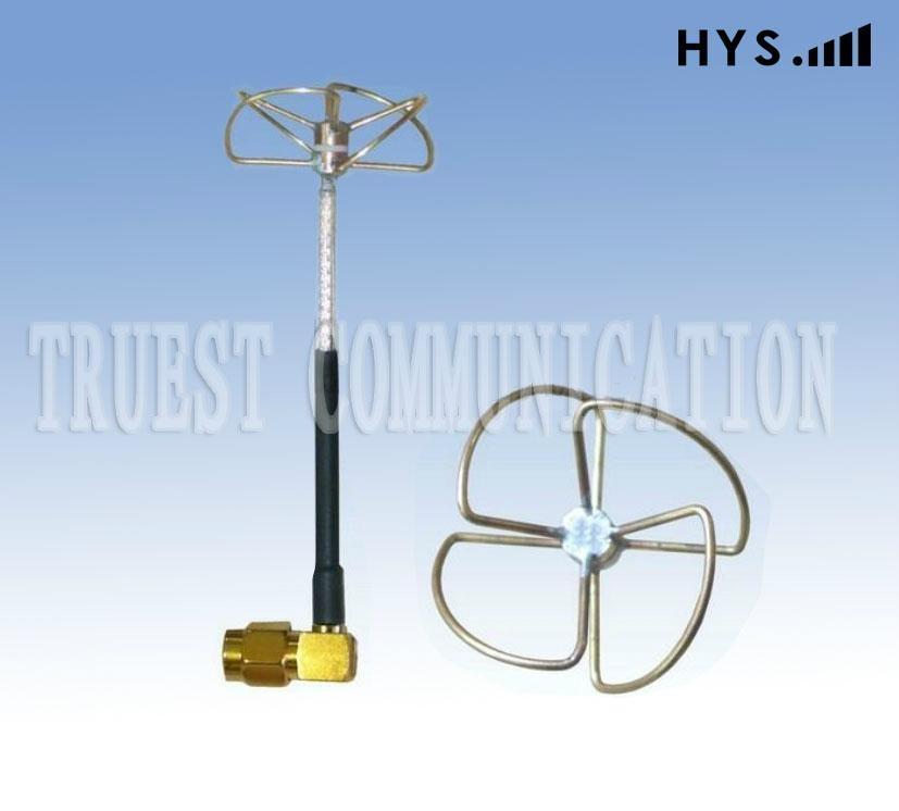 5.8G TCQZ-WZ-2.5-5800V-W-4圓極化四瓣彎頭 1