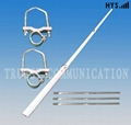 1.2M 2Sections Dual Band Fiberglass Mobile Radio Antenna TC-FG-144/430-3/5-T12