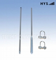 27MHZ ,2 Sections Aluminum Alloy Antenna TC-CB27200