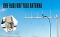 HYS UHF Yagi Portable Installation Outdoor 9dBi UHF 70cm Antennas