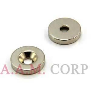 Neodymium Countersunk Magnets 1