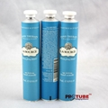 Empty cosmetic aluminum packaging tube