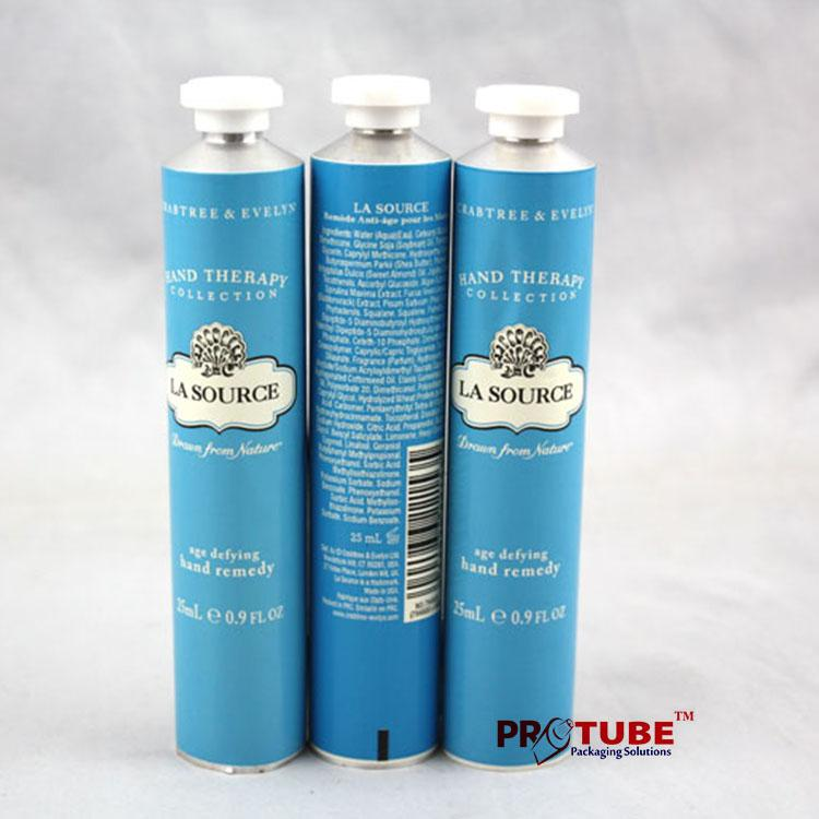 Collapsible Aluminum Tubes for Cosmetic hand/face/eye cream packaging 4