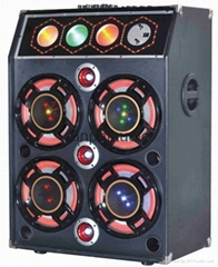 High - power single combination of active speakers