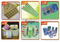 removable self adhesive cast coated sticker paper