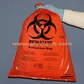 self adhesive tape red plastic biohazard bag for clinical 2