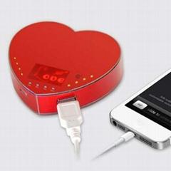 情侣心形移动电源5200毫安礼品厂家